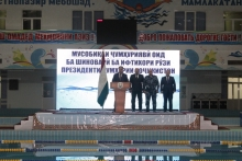 "Opening of the republican swimming tournament dedicated to the ""Day of the President of the Republic of Tajikistan"""